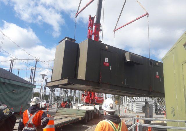 Démantèlement du groupe électrogène d'urgence et des équipements associés