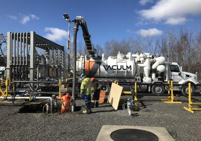 Réfection de la tuyauterie souterraine pour une tuyauterie hors-sol